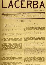 Rivista Lacerba di Giovanni Papini.