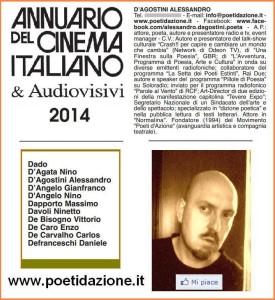 Annuario del cinema & Audiovisivi 2014, voce Alessandro D'Agostini