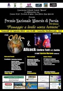 Locandina del Premio Nazionale Mimesis di Poesia