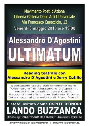 Locandina dello Spettacolo-Concerto Ultimatum. Clicca per ingrandire.
