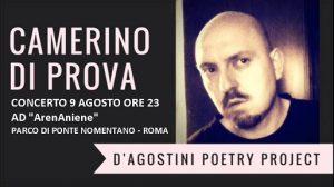 Concerto del D'Agostini Poetry Project ad ArenAniene nell'Estate Romana